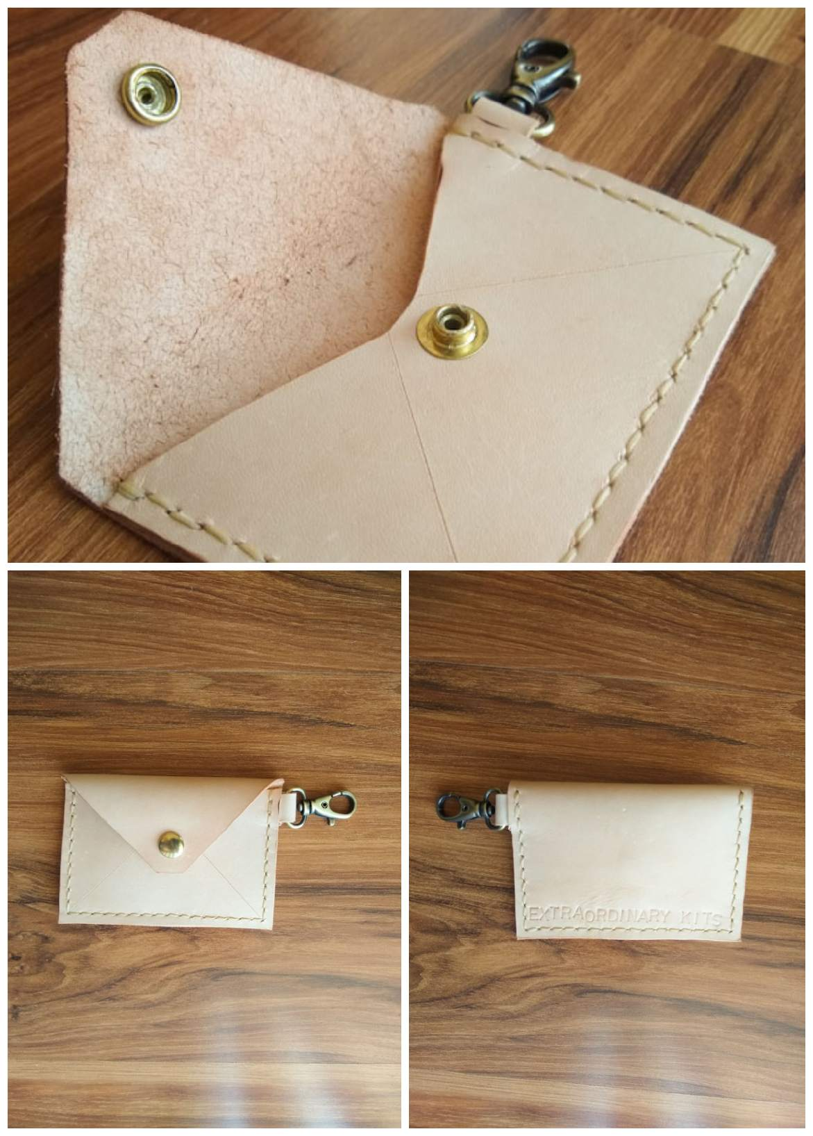 Make Your Own Leather Card Holder Keychain!